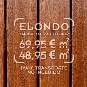 foto de tarima exterior de elondo con precio de oferta