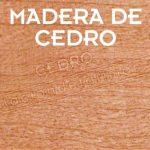 la madera de cedro sorprende por su durabilidad