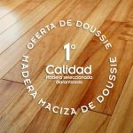 Oferta de tarima de doussie de madera maciza de interior