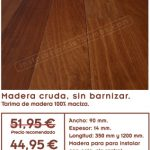 Oferta de tarima de ipé de interior de madera maciza con 14 mm de espesor