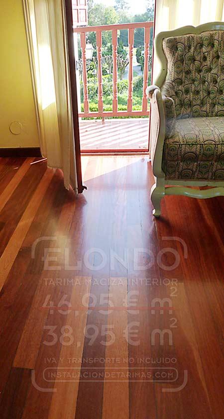 foto de suelo de madera de tarima maciza para casas de campo