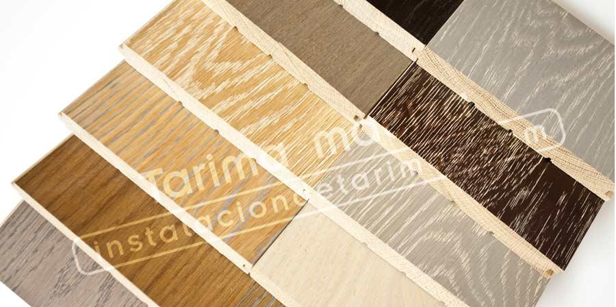 Foto tarimas de roble, donde se ve como una de las ventajas de la tarima maciza es la personalización