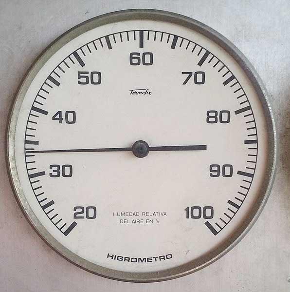 higrometro para controlar el proceso al secar el suelo al 2%