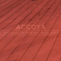 tarima de accoya roja para exterior