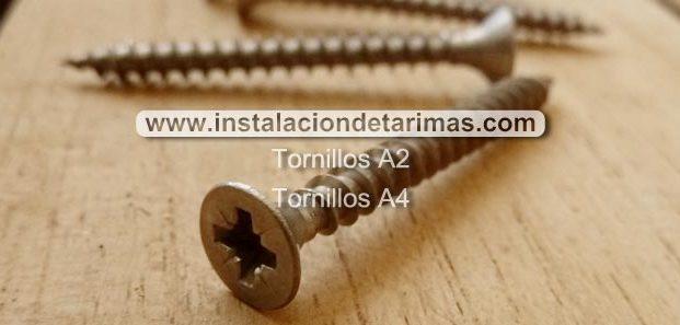 Tornillos de acero inoxidable para la madera en la intemperie