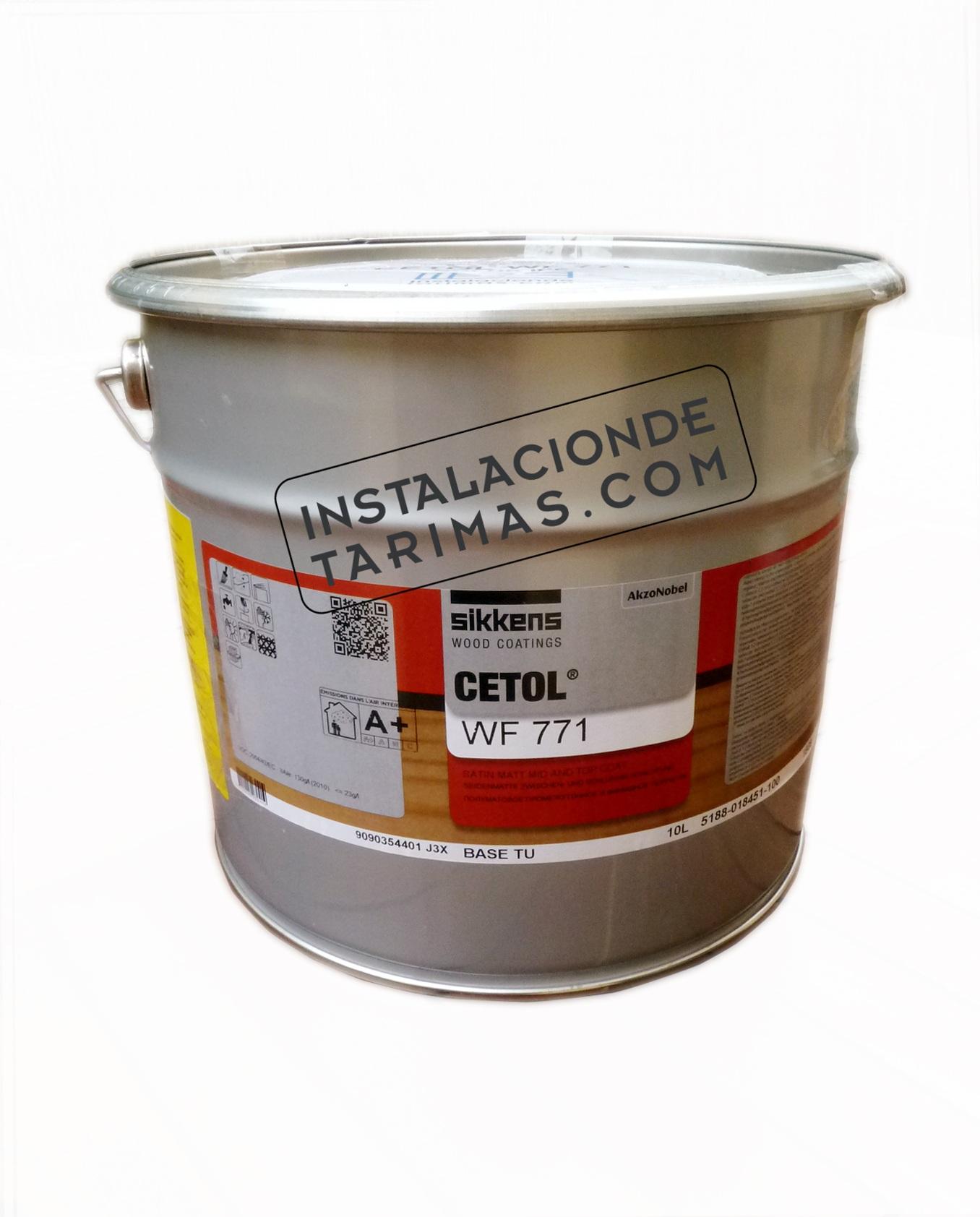 Bote de 10 litros de cetol WF71 para el mantenimiento de tarimas de exterior o maderas tropicales