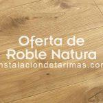Tarima maciza de roble Natura Rustic sin barnizar con nudo natural