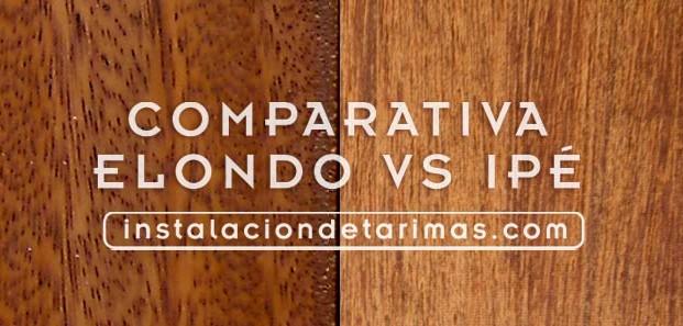 Comparativa entre elondo e ipé; tarima de África versus tarima de Brasil