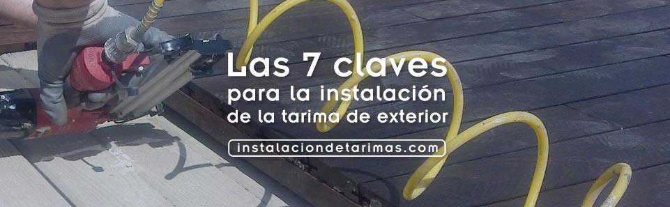 Las 7 claves de la instalación de la tarima de exterior