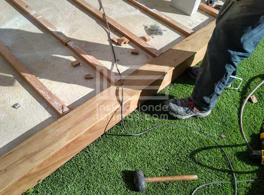 Construyendo un mamperlan con la tarima de mirandiba