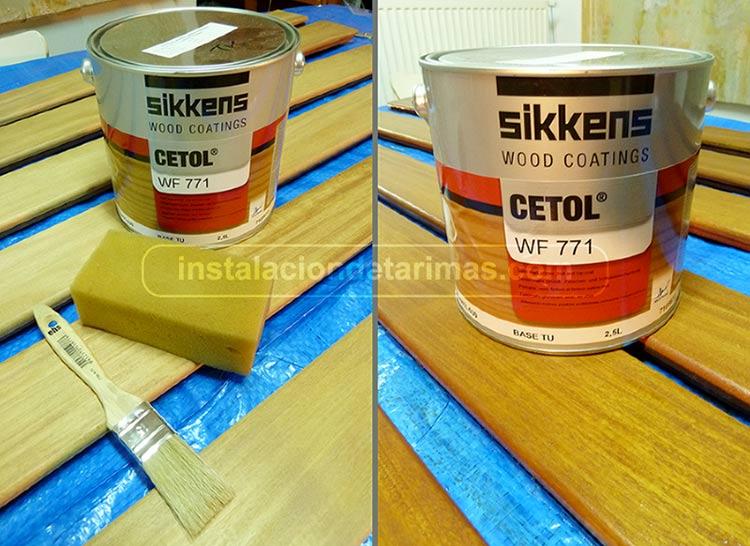 tratar la tarima con sikkens cetol wf771