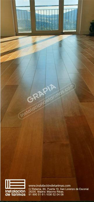 foto de madera maciza de grapia para interior